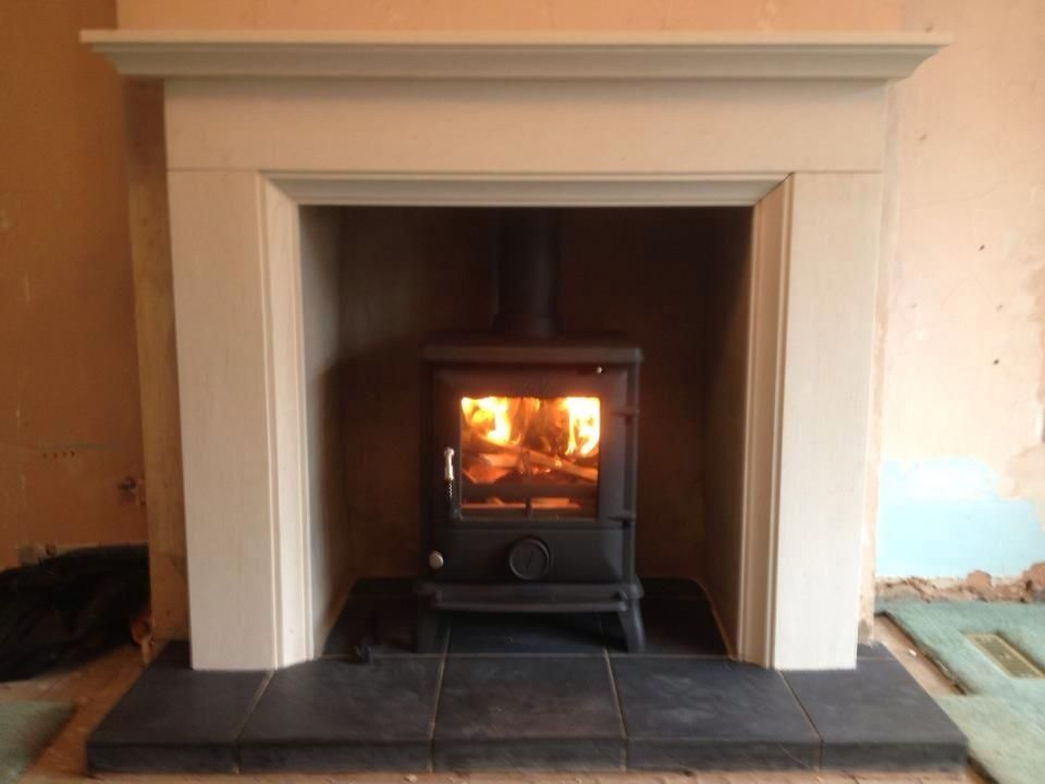 Log Burner White Surround Home Sweet Pinterest