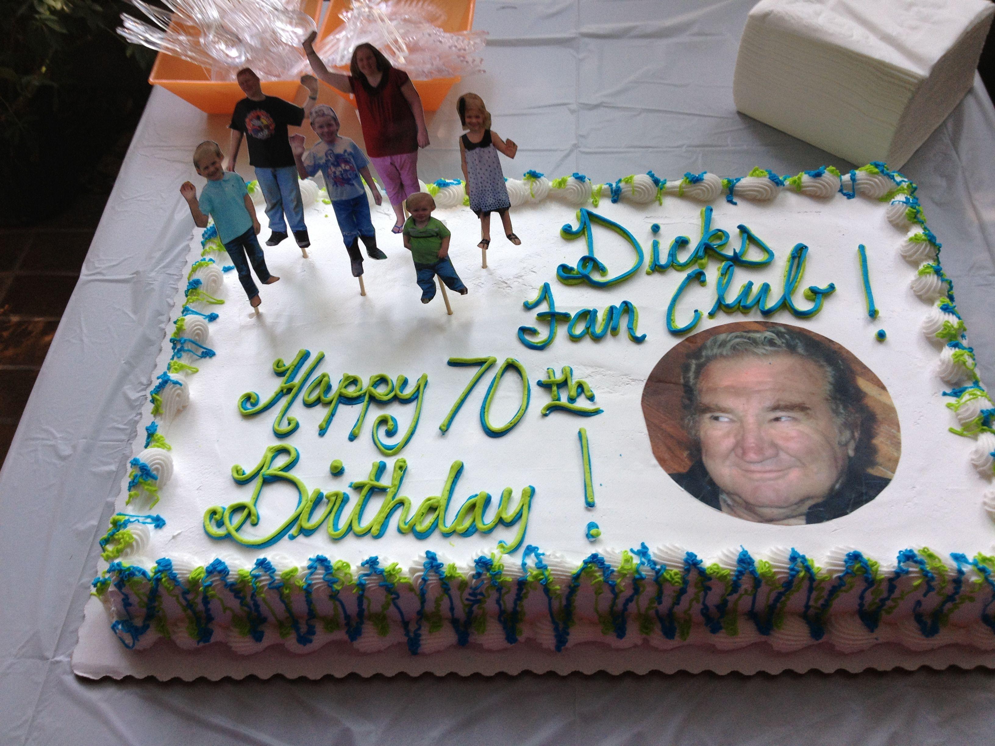 70th birthday cake Party Ideas Pinterest