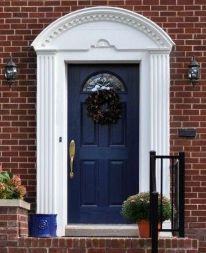 Navy Blue Front Door Perhaps For The Home Pinterest