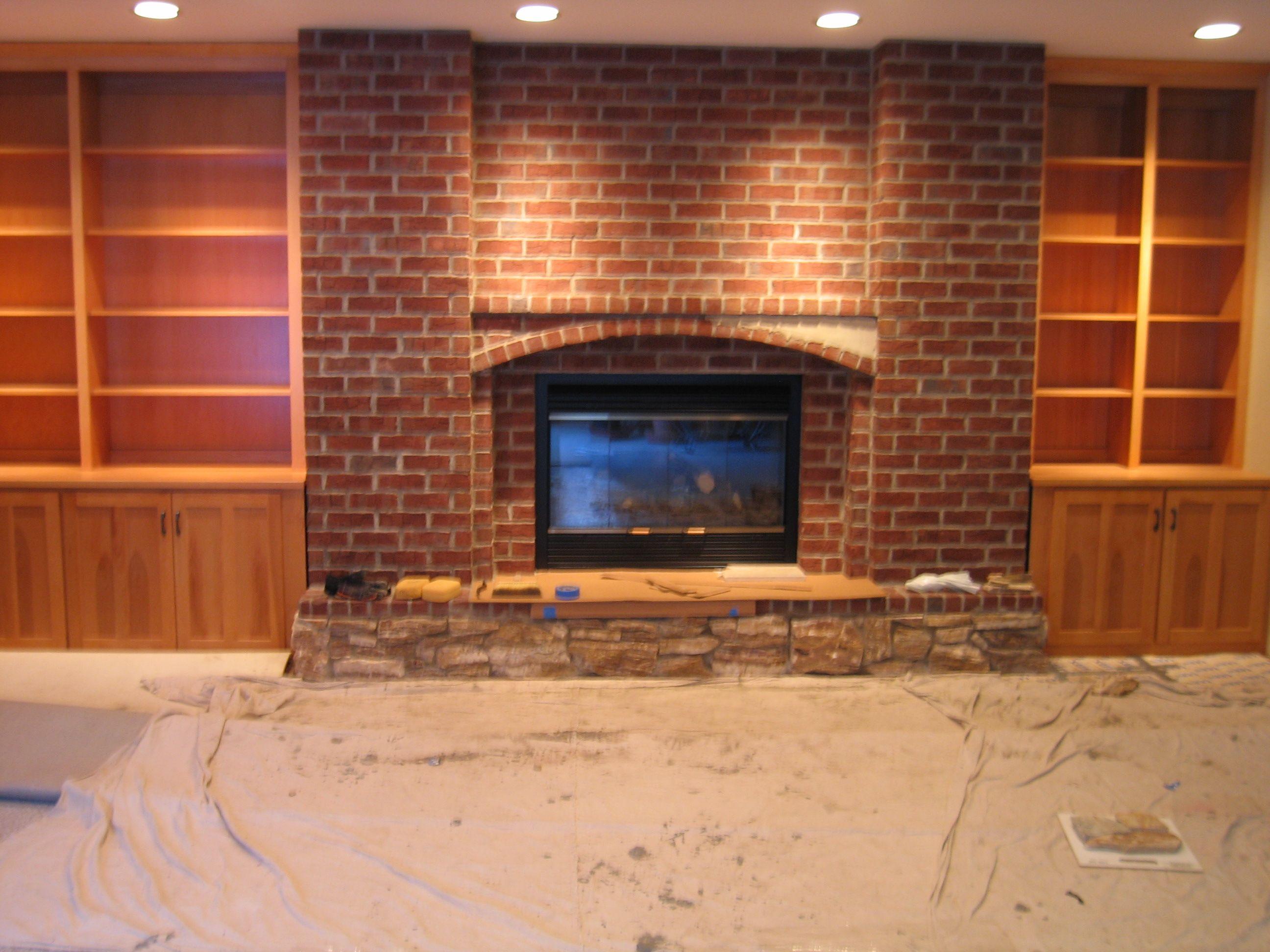 Hideous Red Brick Fireplace Home Pinterest