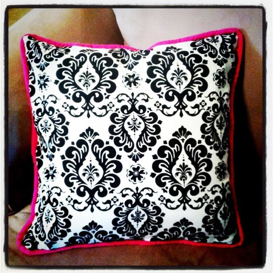 Homemade Pillow Cover With Piping Cool Ideas For A House