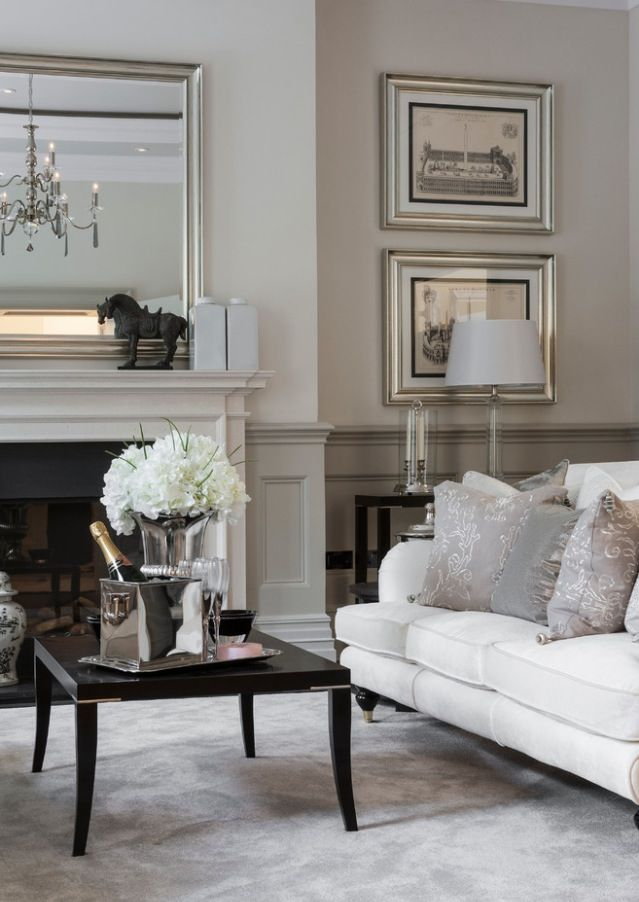 Living room grey chair rail home pinterest for Chair rail ideas for living room