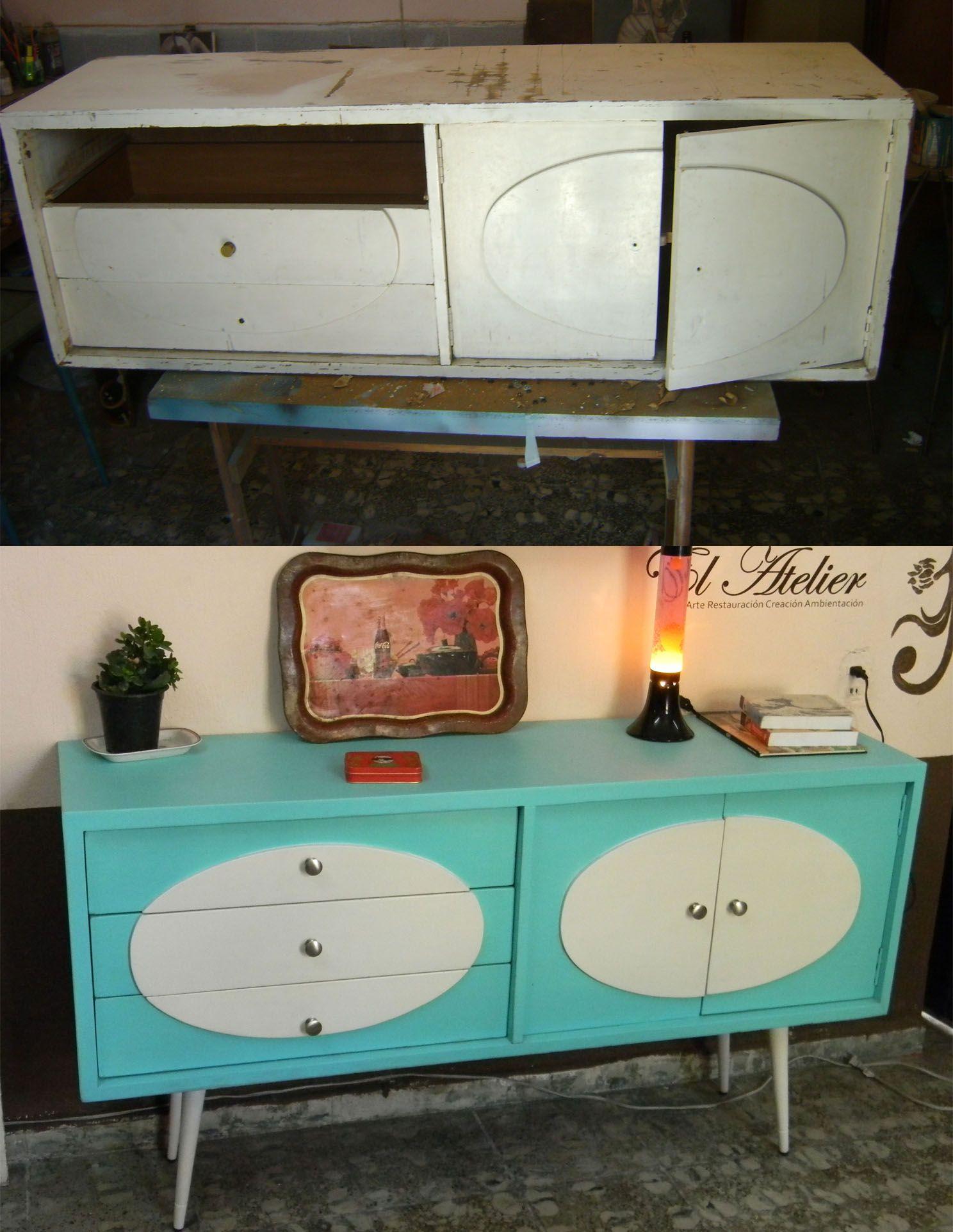 Antes y despu s muebles restaurados pinterest for Muebles antiguos restaurados antes y despues