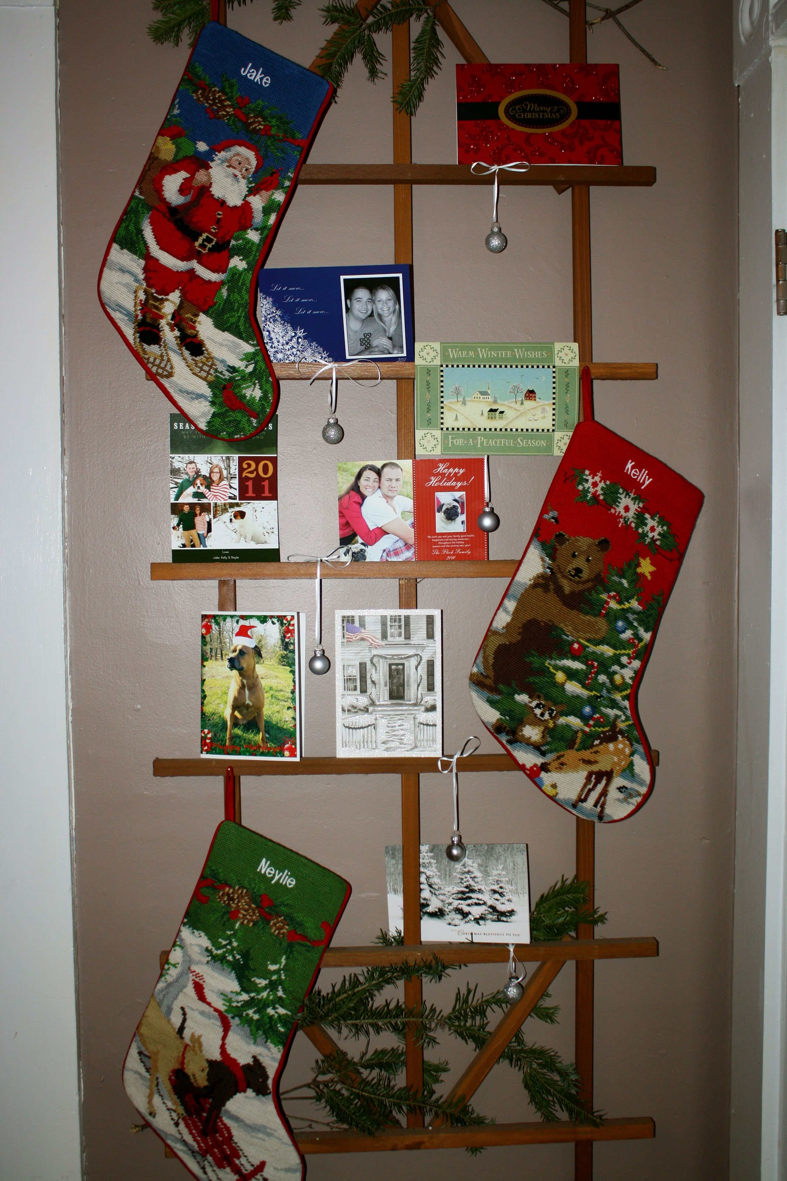 My christmas stocking and card holder christmas pinterest