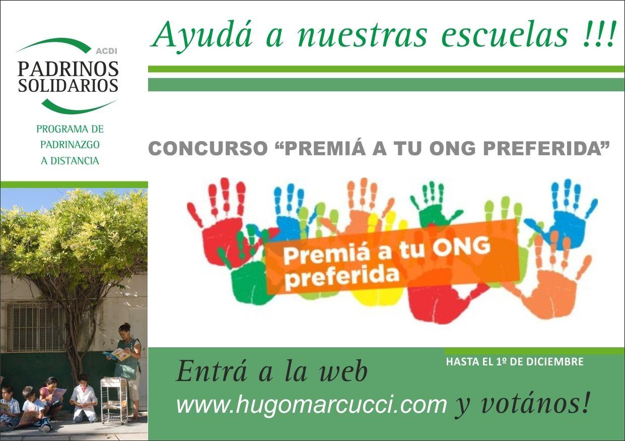 Concurso Premiá a tu ONG Preferida