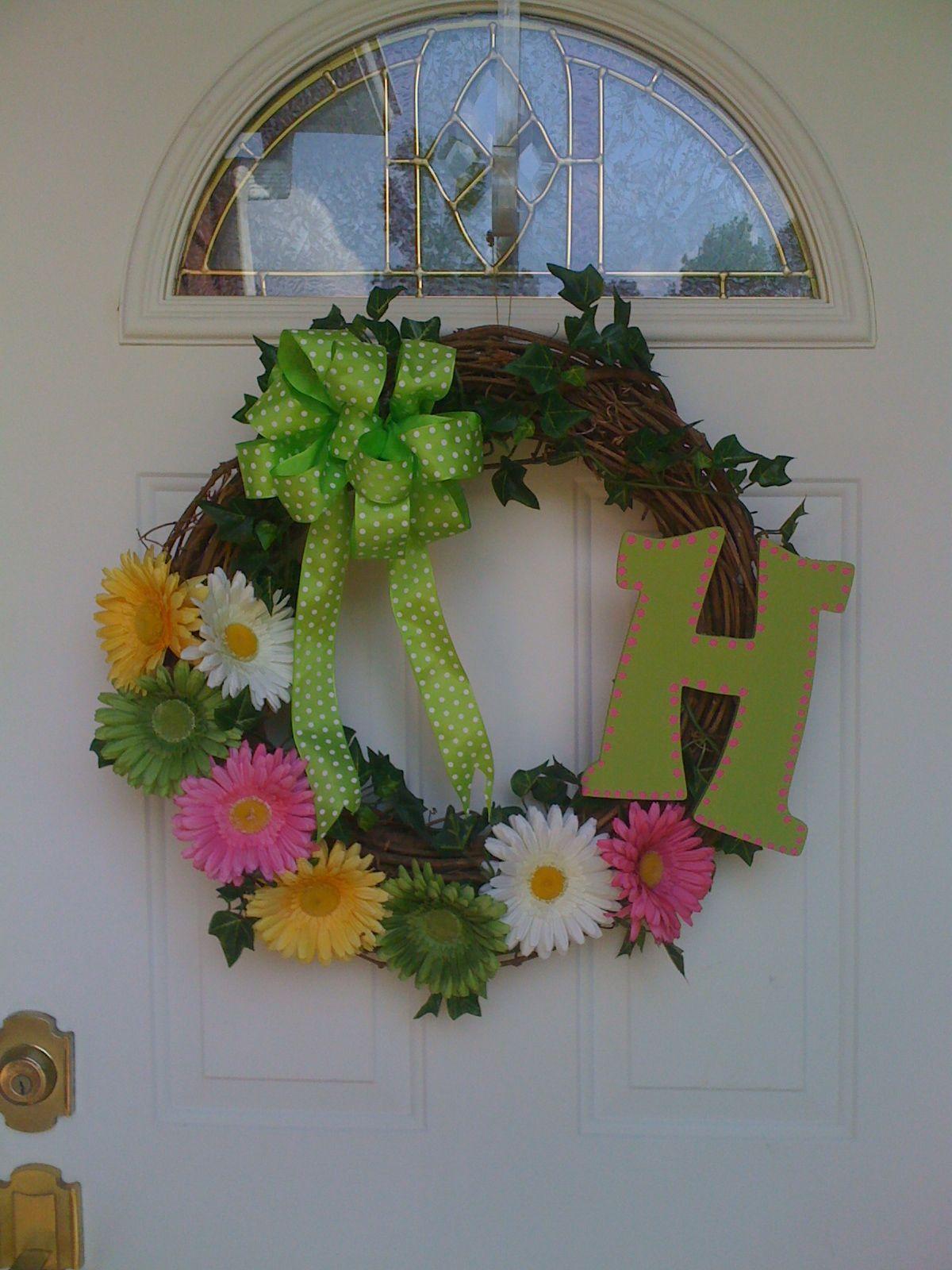 My Spring Front Door Wreath Fabulous Home Ideas Pinterest