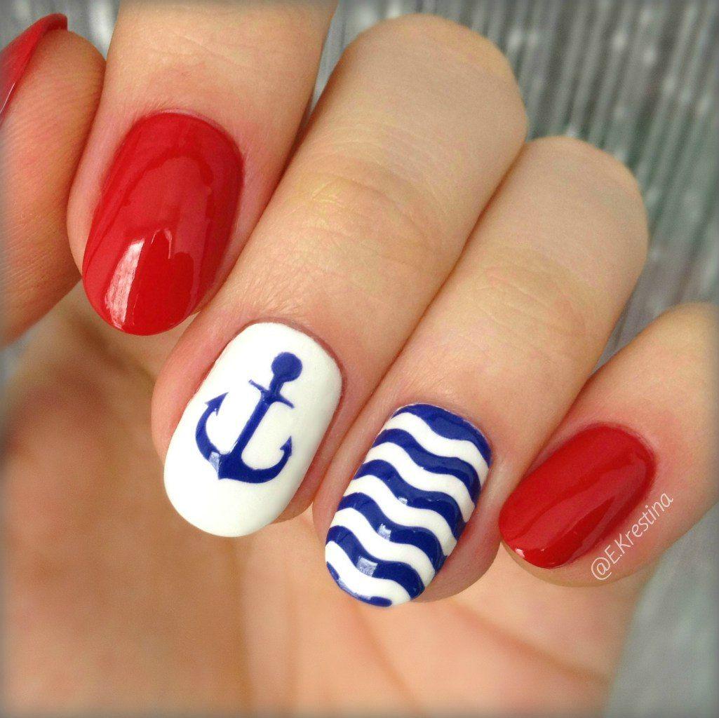 Фото ногтей морского стиля