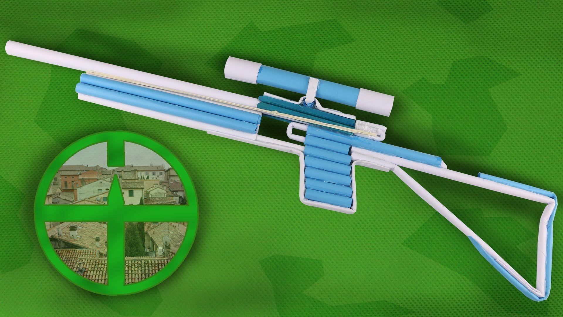 How to make как сделать стреляющую снайперскую винтовку из 58