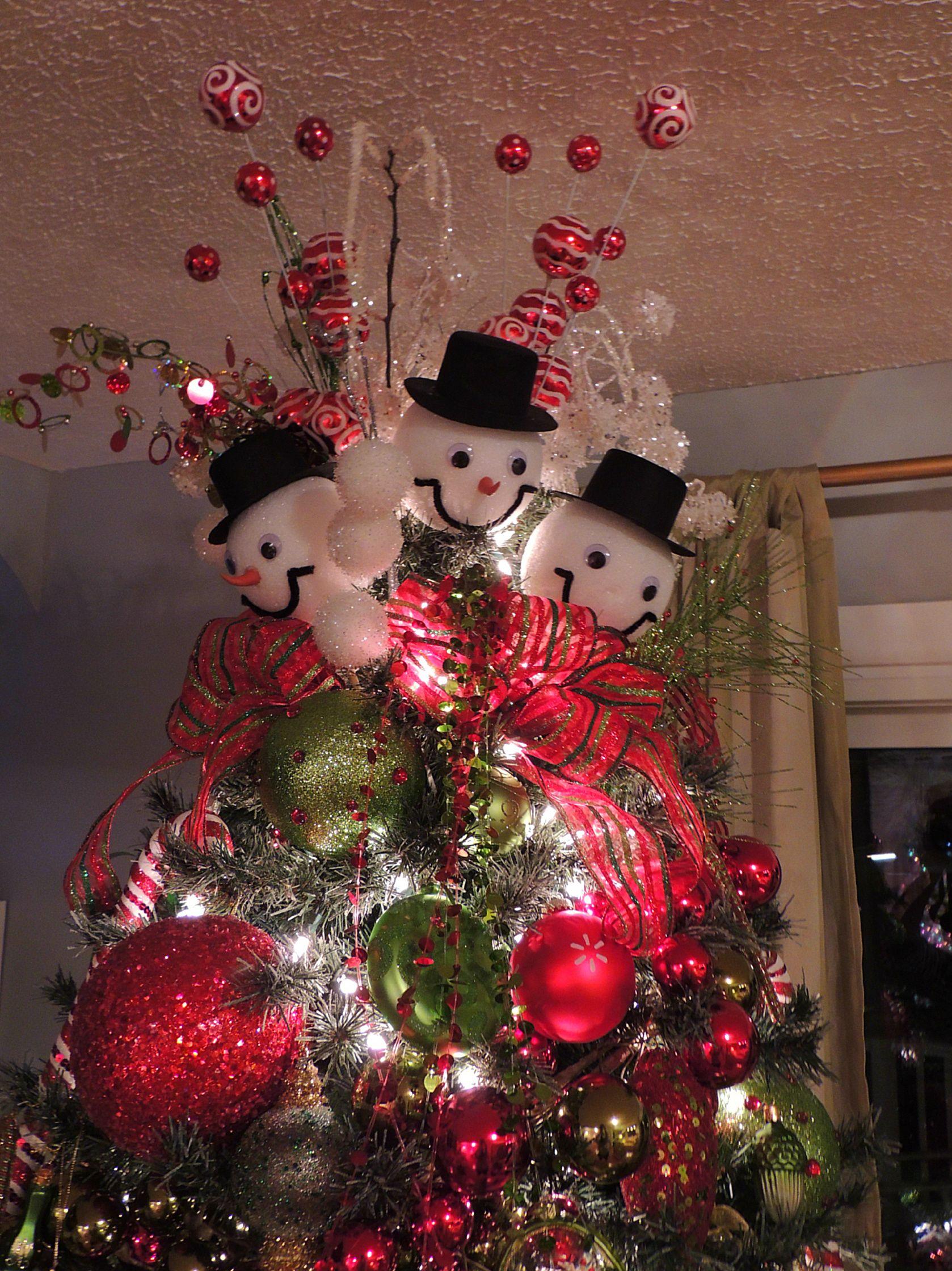 snowman tree topper tis the season pinterest. Black Bedroom Furniture Sets. Home Design Ideas