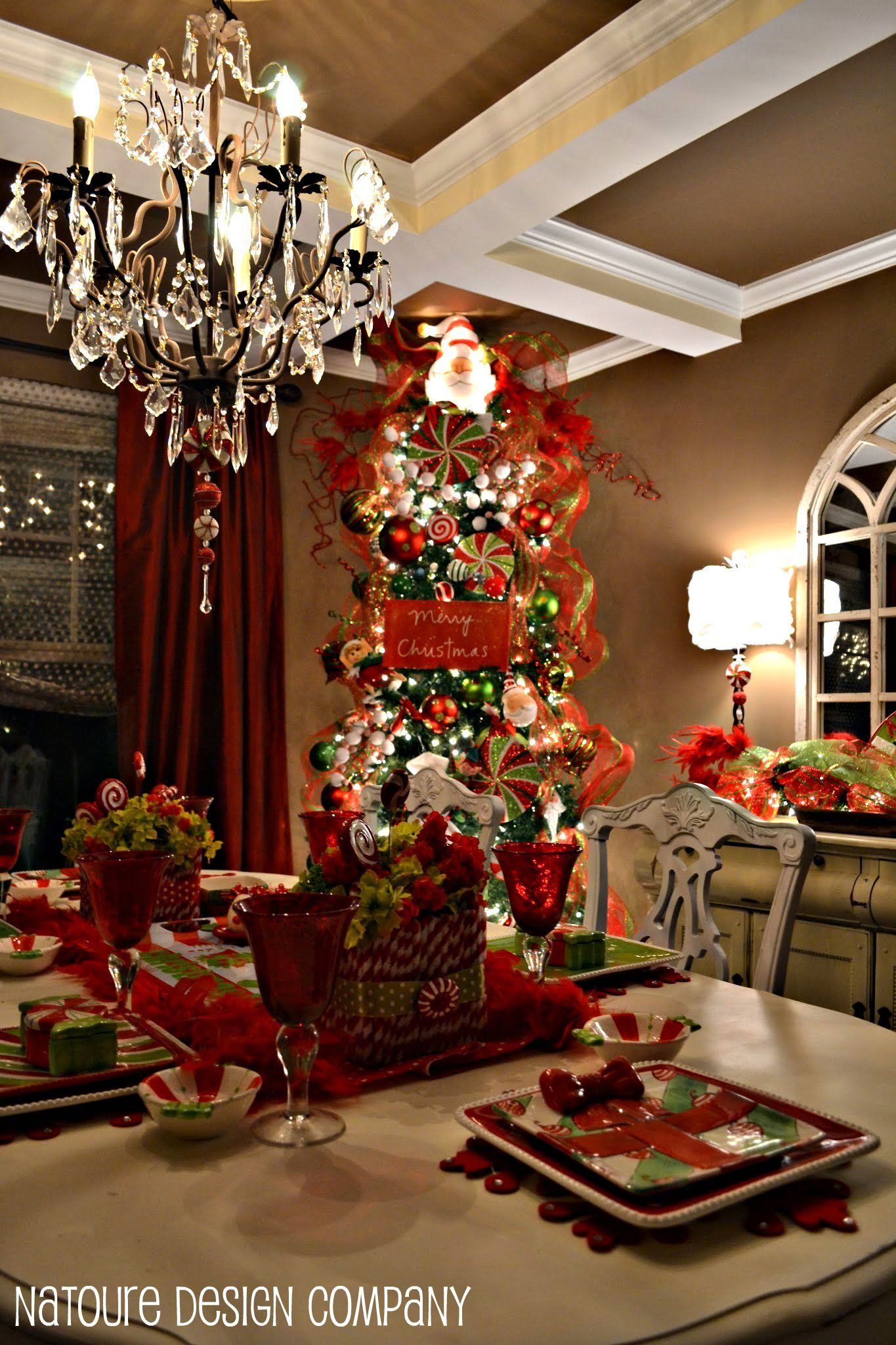 Christmas decorations dining room natoure design