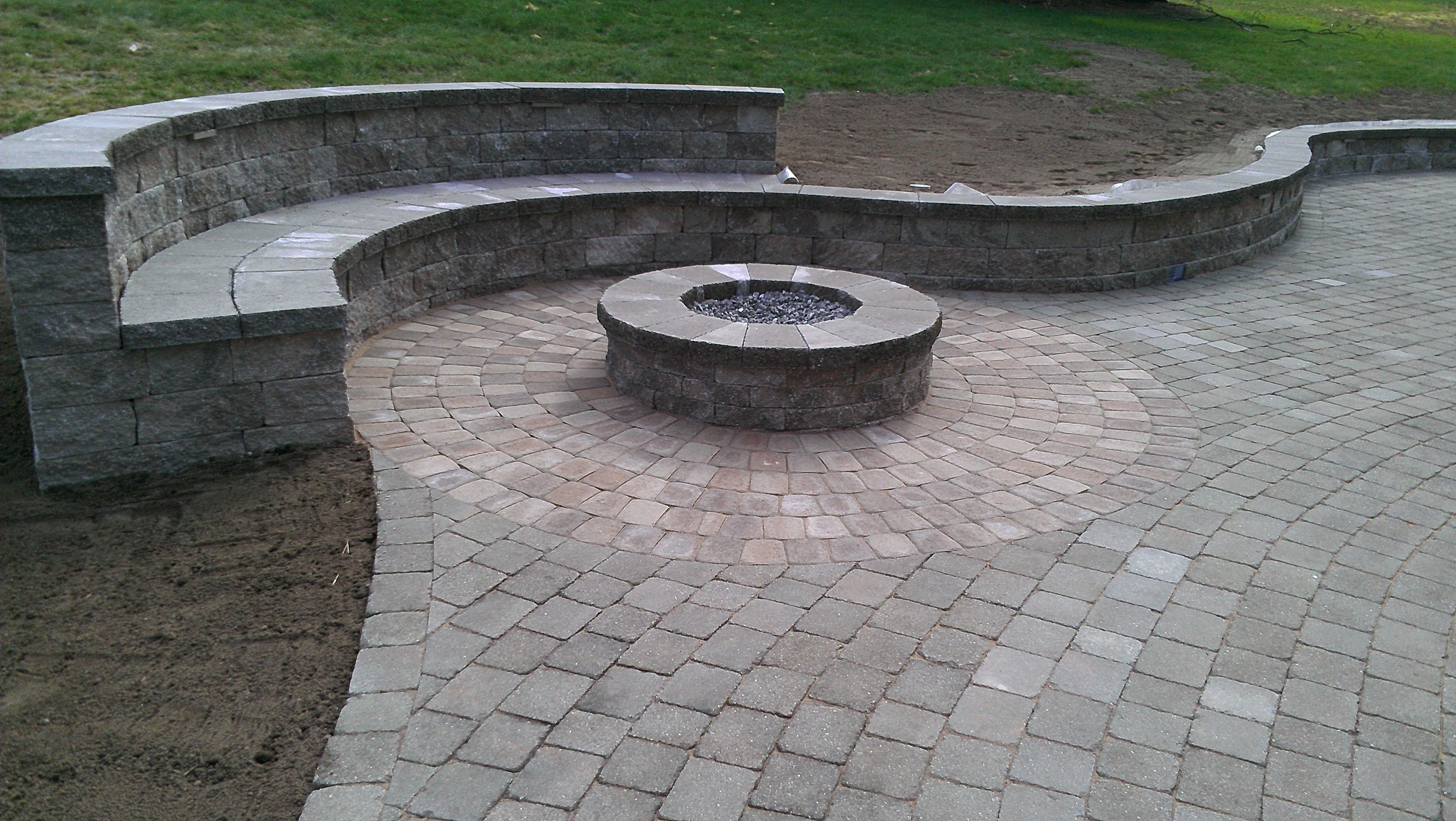 Fire Pit With Bench Yard And Garden Pinterest