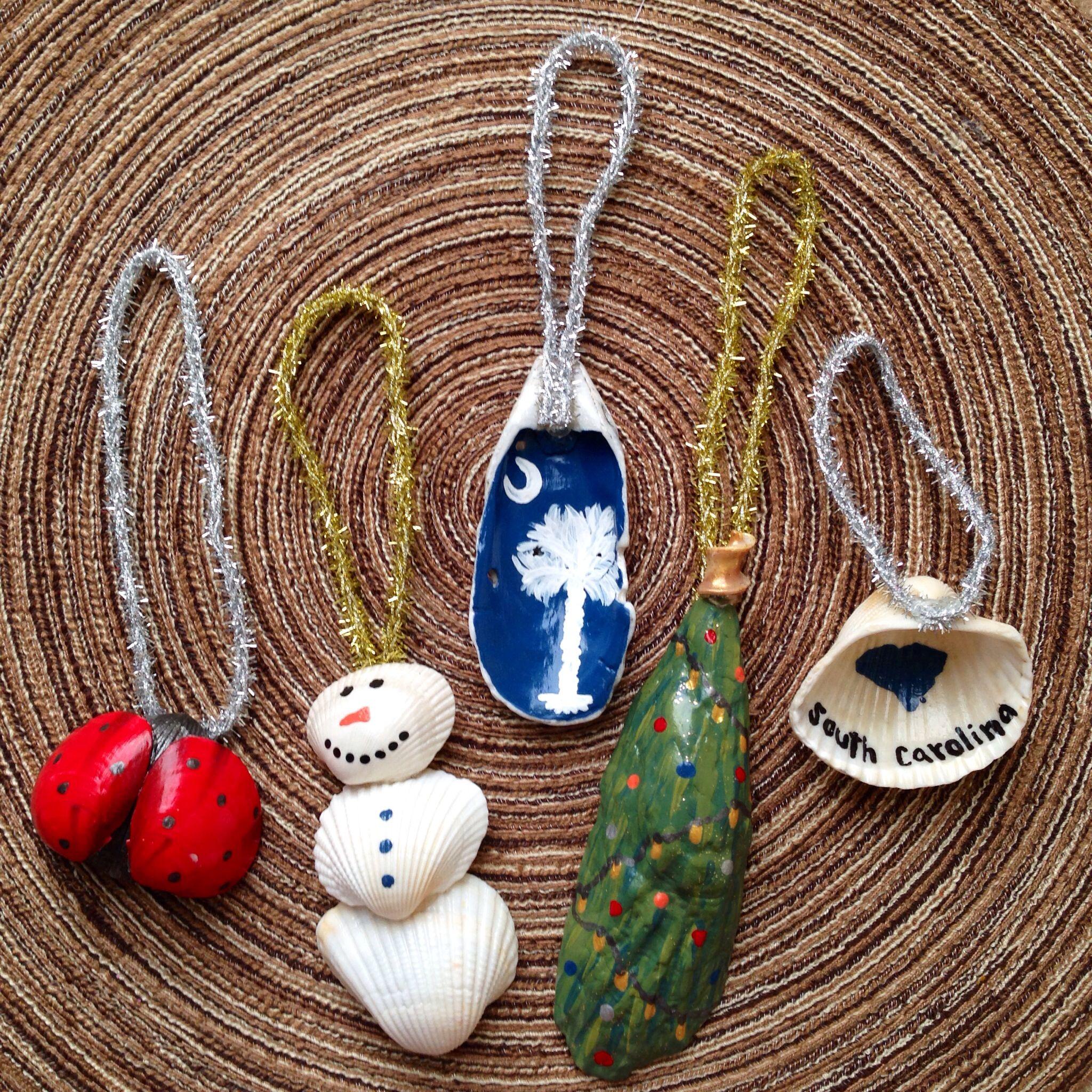 Seashell christmas ornaments craft ideas pinterest for Seashell ornament ideas