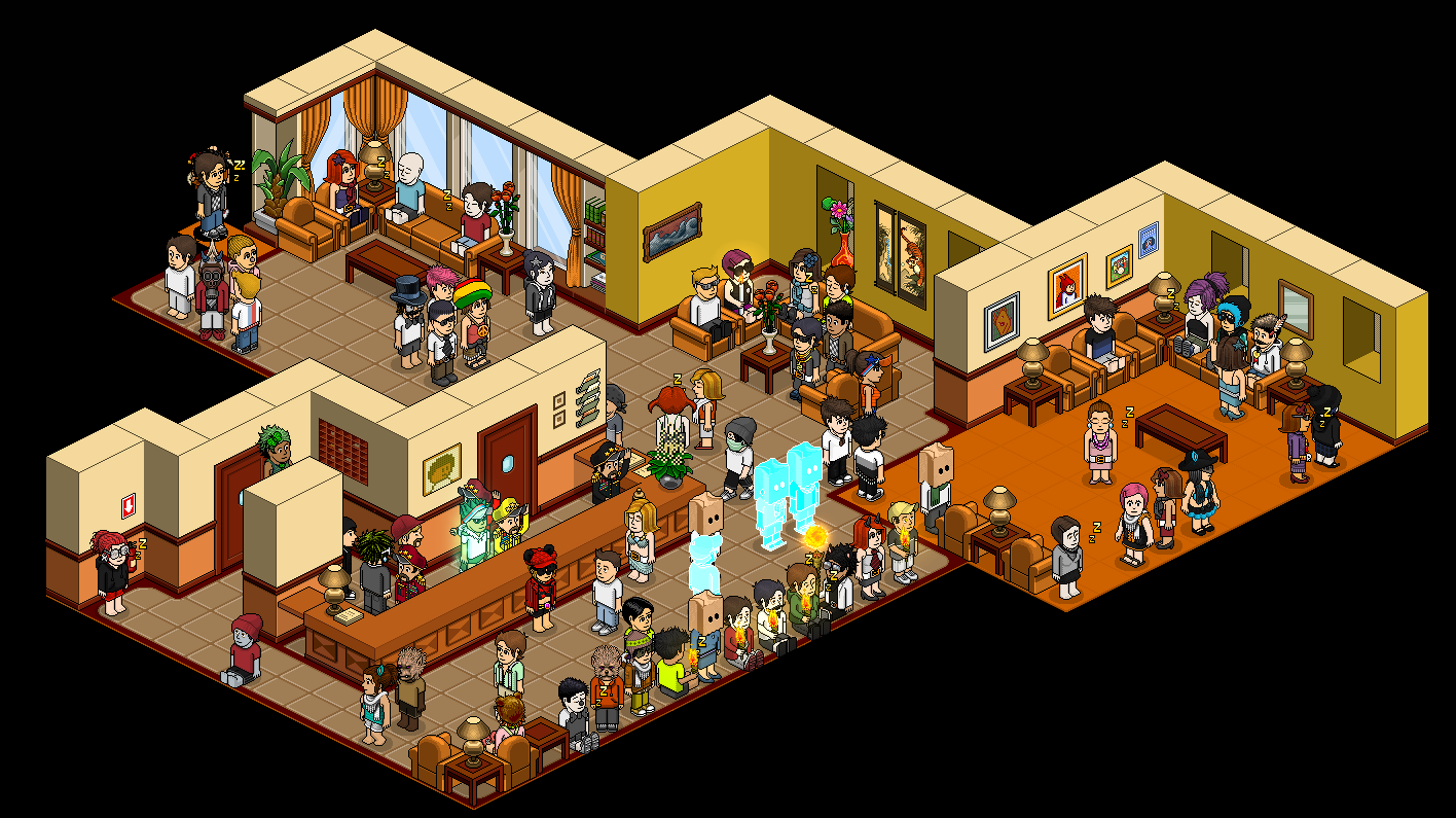 Habbo Lounge in http://Habbo.es | The Great Unmute | Pinterest