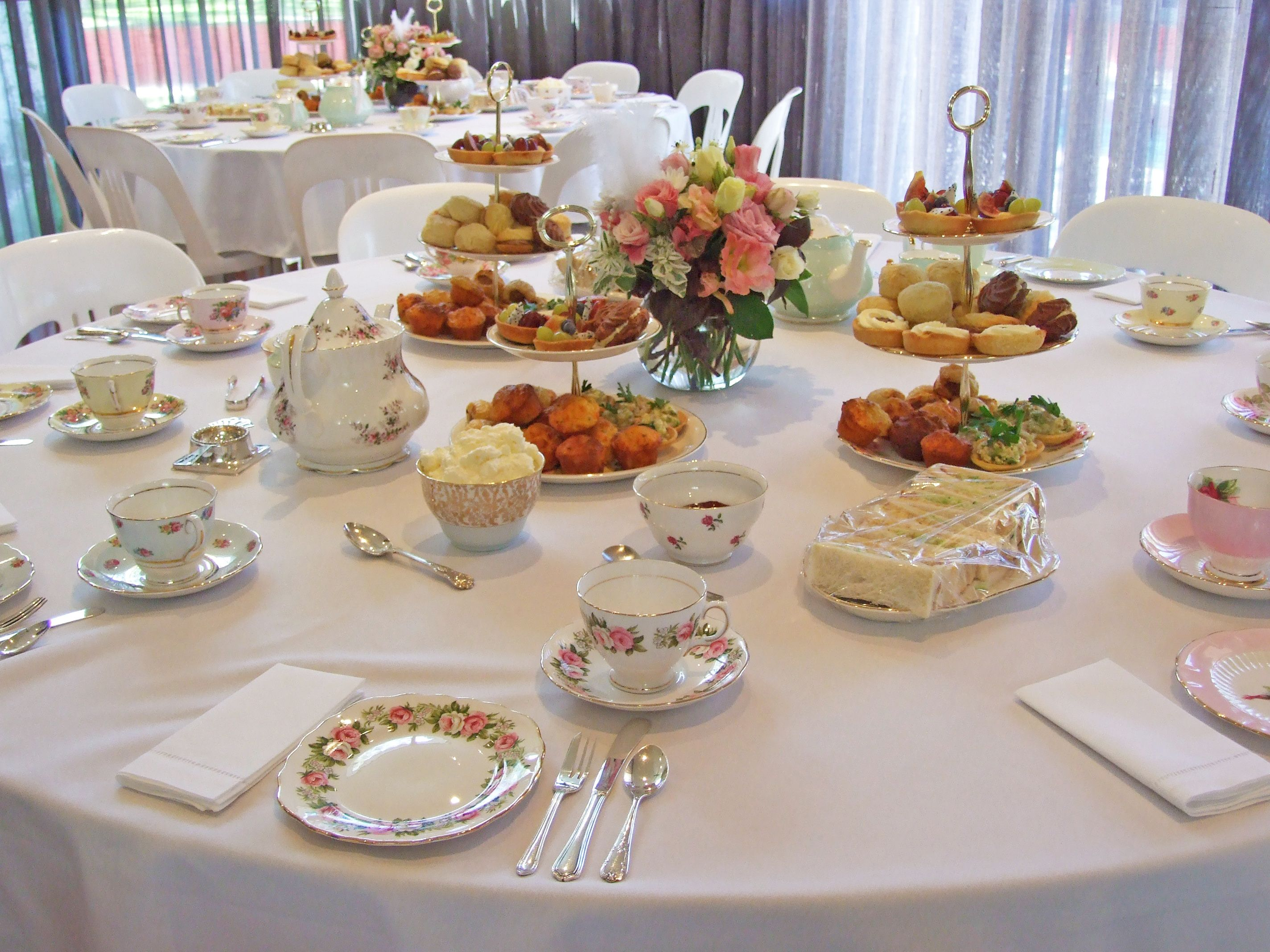 table set for tea  afternoon tea  Pinterest