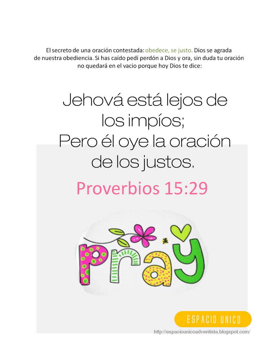 Proverbios 15 29 versiculos biblicos en espanol pinterest for Pinterest en espanol