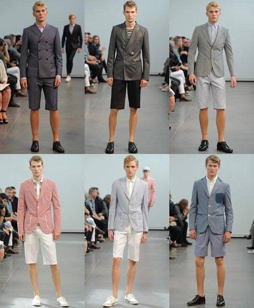 Men's SS13 Fashion Trend: Tailored Shorts Shorts Suits
