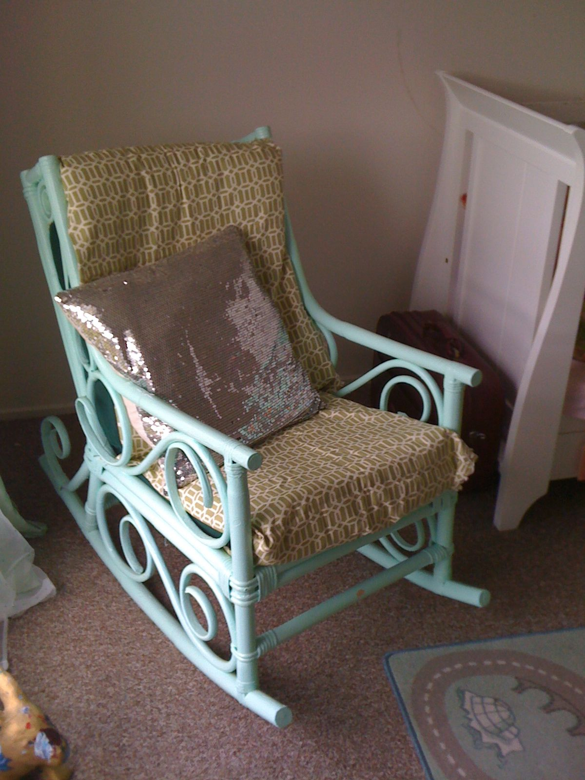 Amazing photo of painted rocking chair susan S. 2 Pinterest with #487A84 color and 1200x1600 pixels