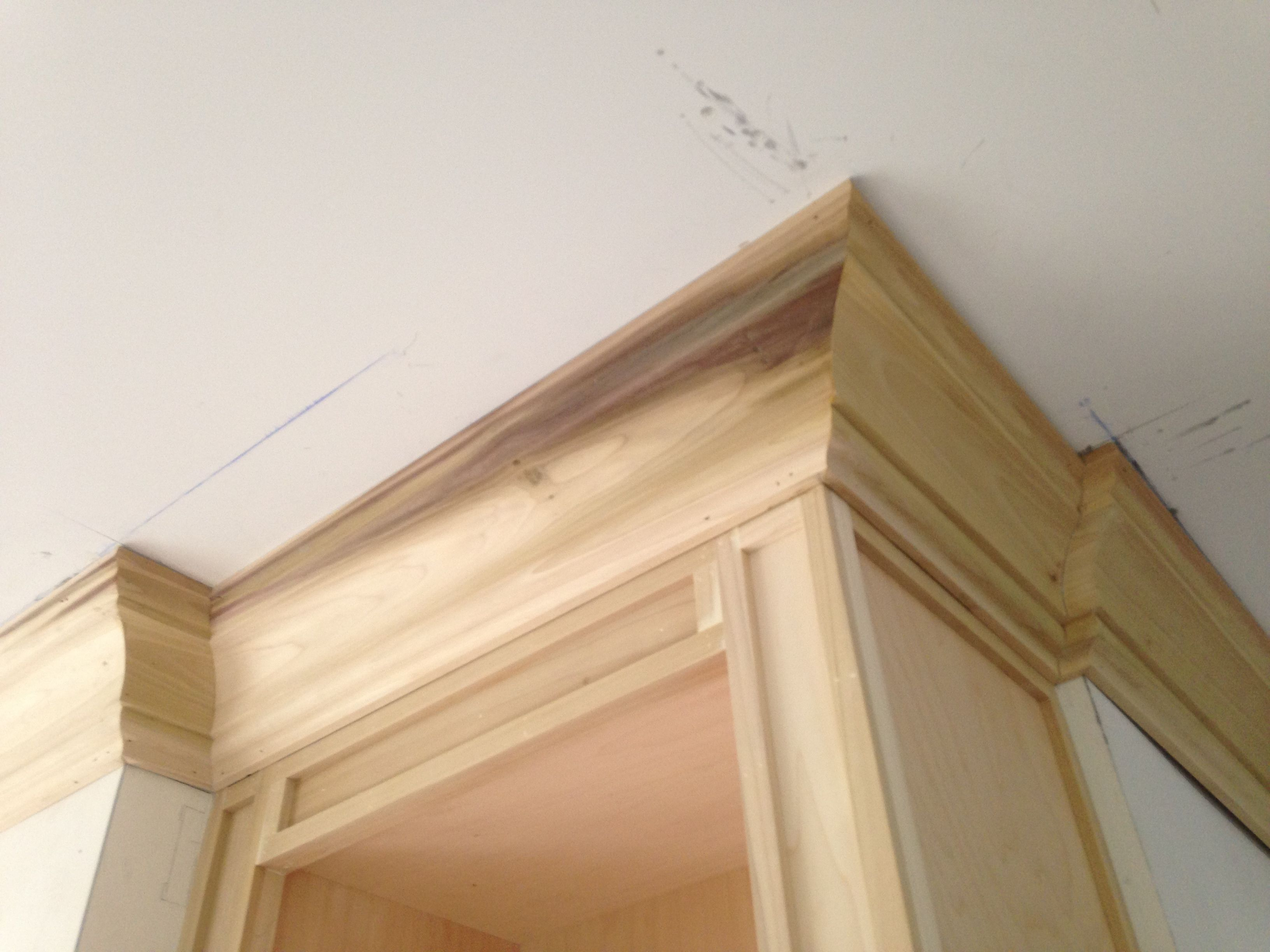 "White wall shelves, 18"" Crown molding shelf White walls"