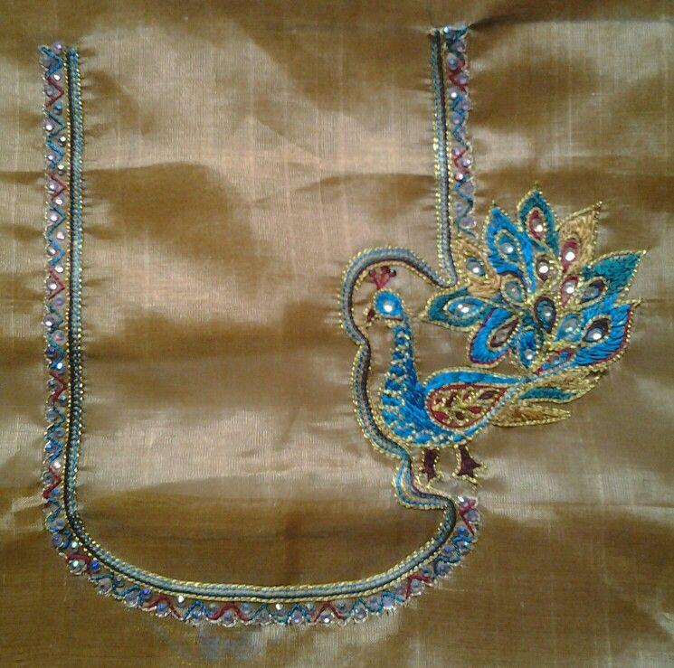 Aari embroidery blouse hand designs pinterest