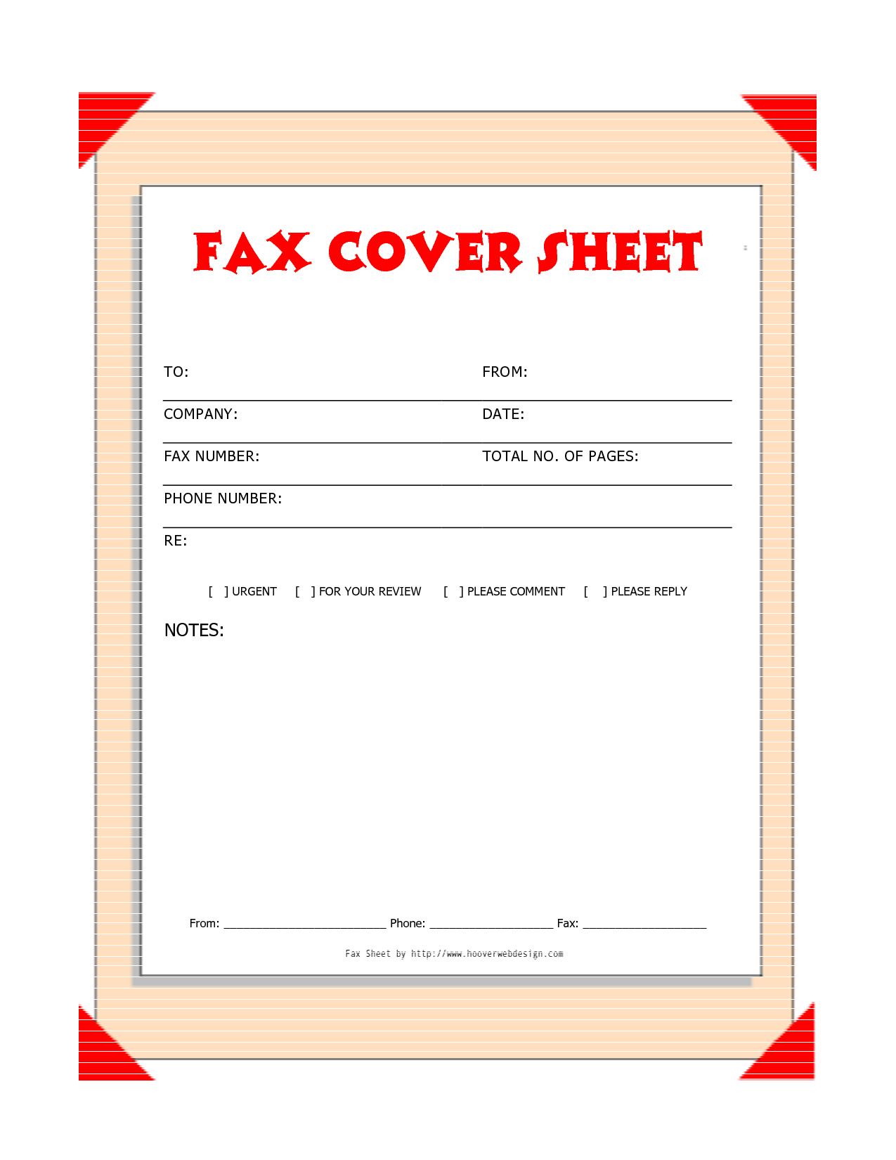 basic fax cover sheet template | datariouruguay