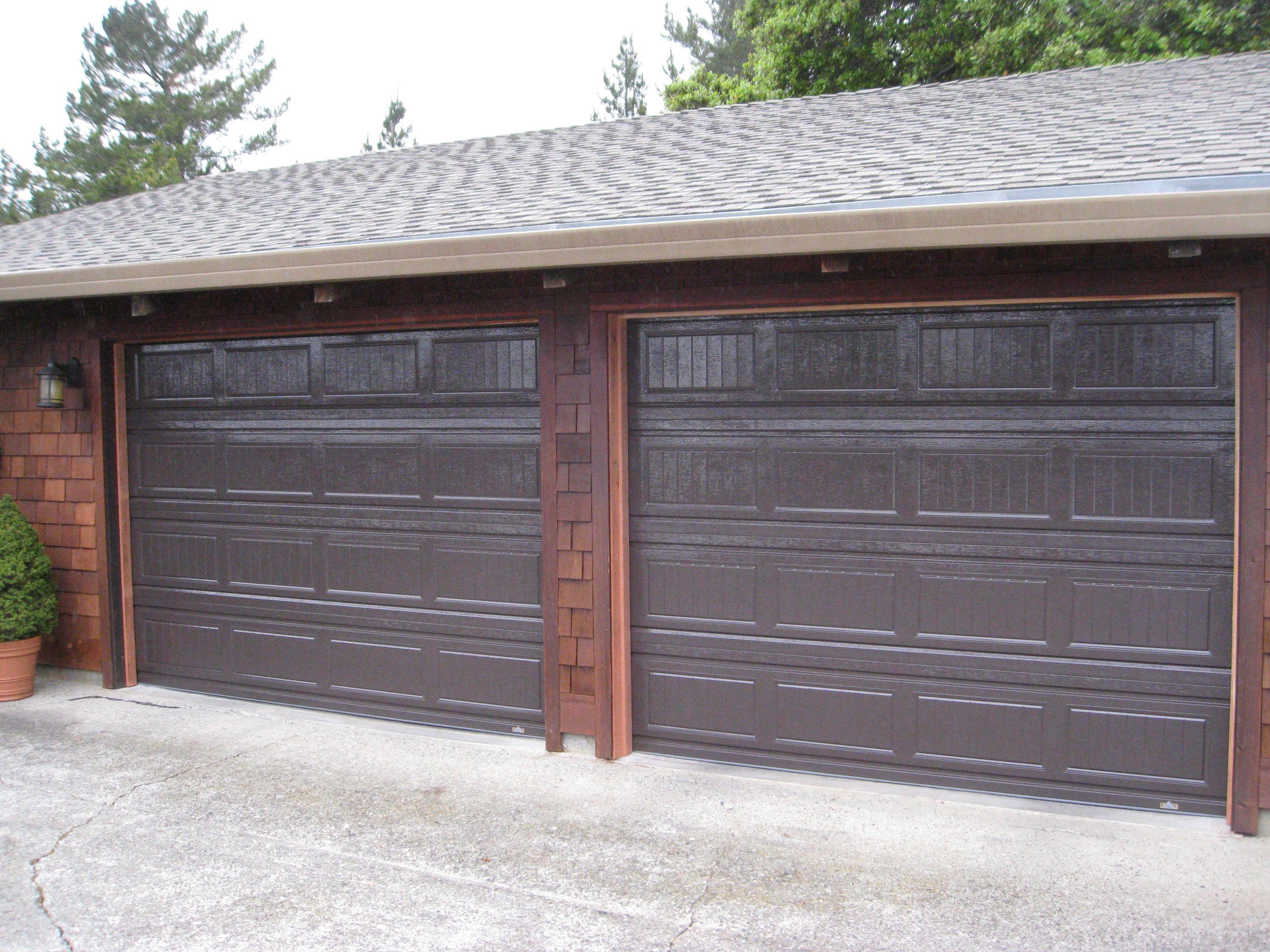 2448 #4C6038 Grooved Doors In Dark Brown Garage Doors Amp Gates Pinterest pic Dark Brown Garage Doors 37613264