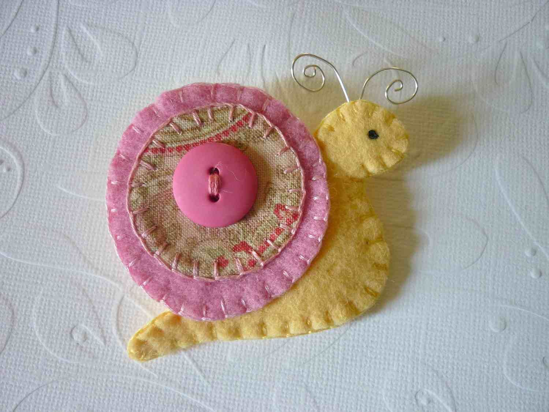 Snail magnet or ornament. | Craft Ideas | Pinterest