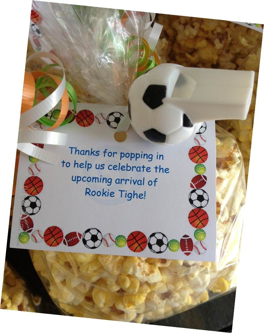 sports theme baby shower favor baby shower pinterest