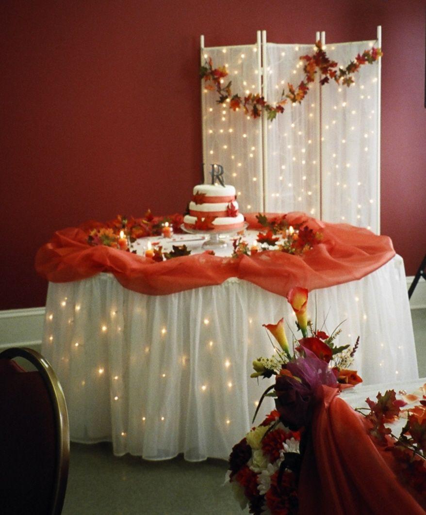 Fall Wedding Cake Table Wedding Decor Ideas Pinterest