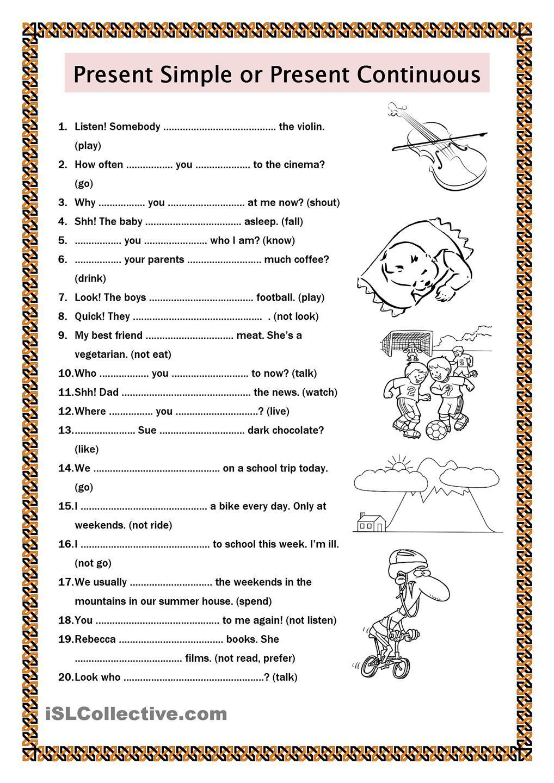 ESL Grammar Worksheets Stickyball