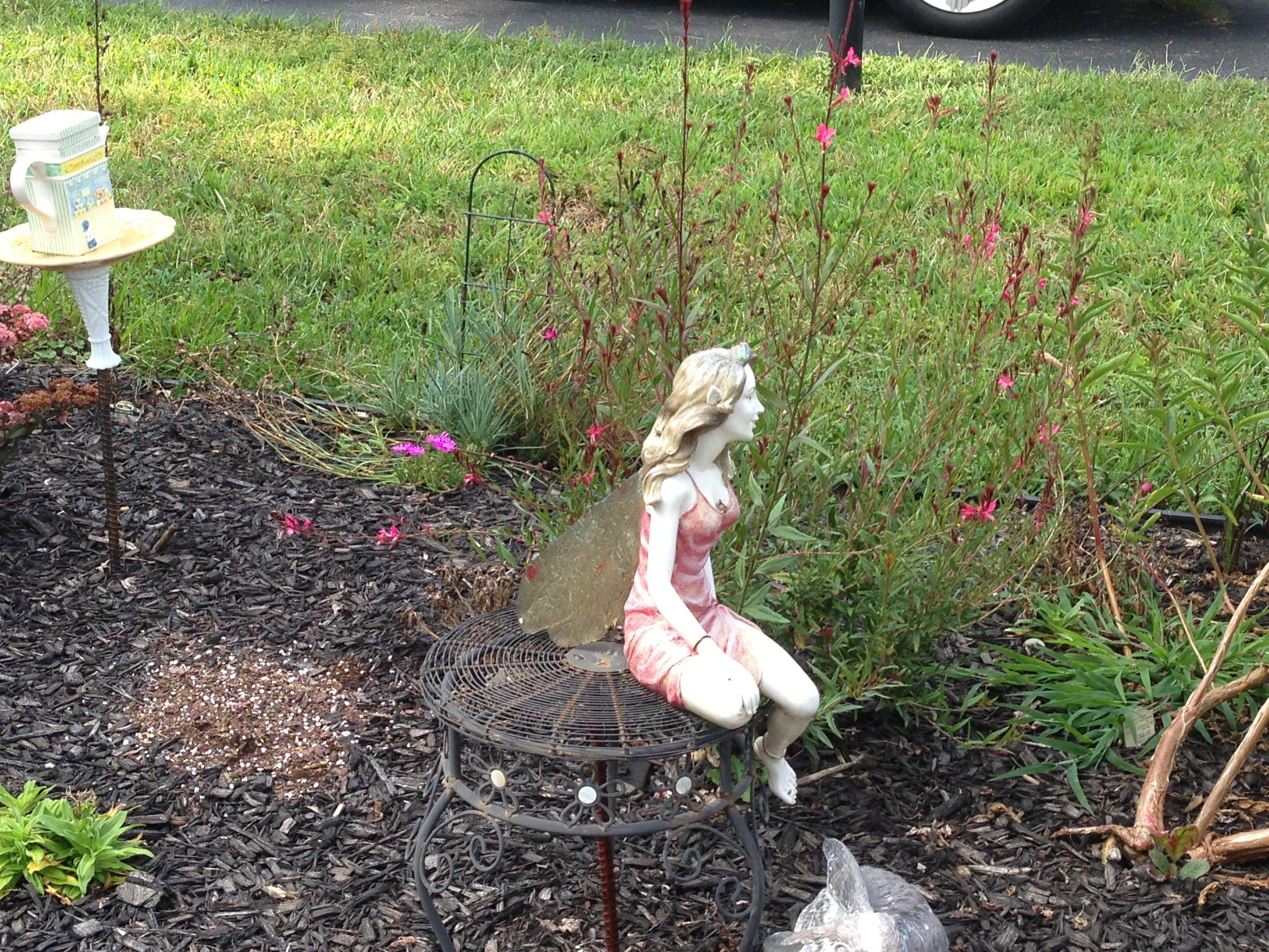 fairy statue in garden fairies pinterest