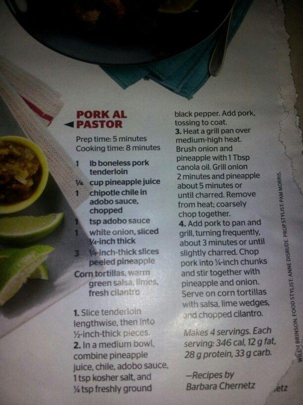 Pork al Pastor tacos | Lunch, Dinner, and In Between | Pinterest