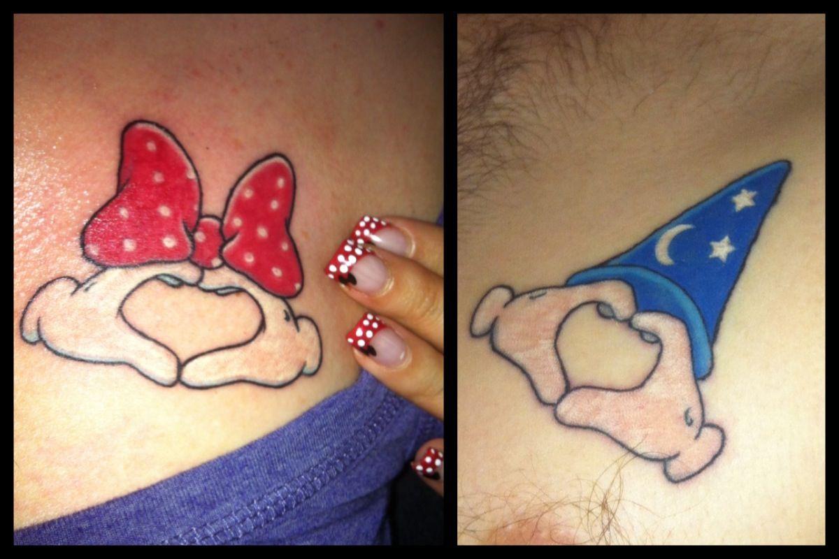 My husband and I's disney tattoos :) | Tattoos | Pinterest