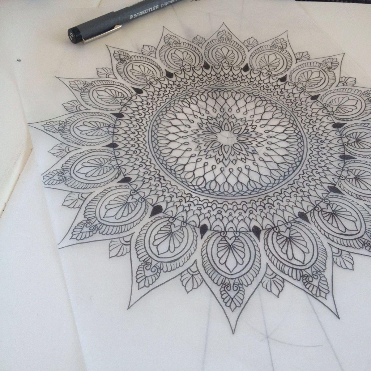 Interesting Mandala Tattoo Design Mehndi Tattoos