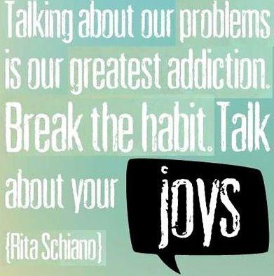 talk about your joys