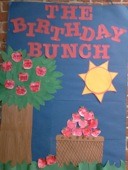 Apple palm print birthday board | bulletin boards by ME ...