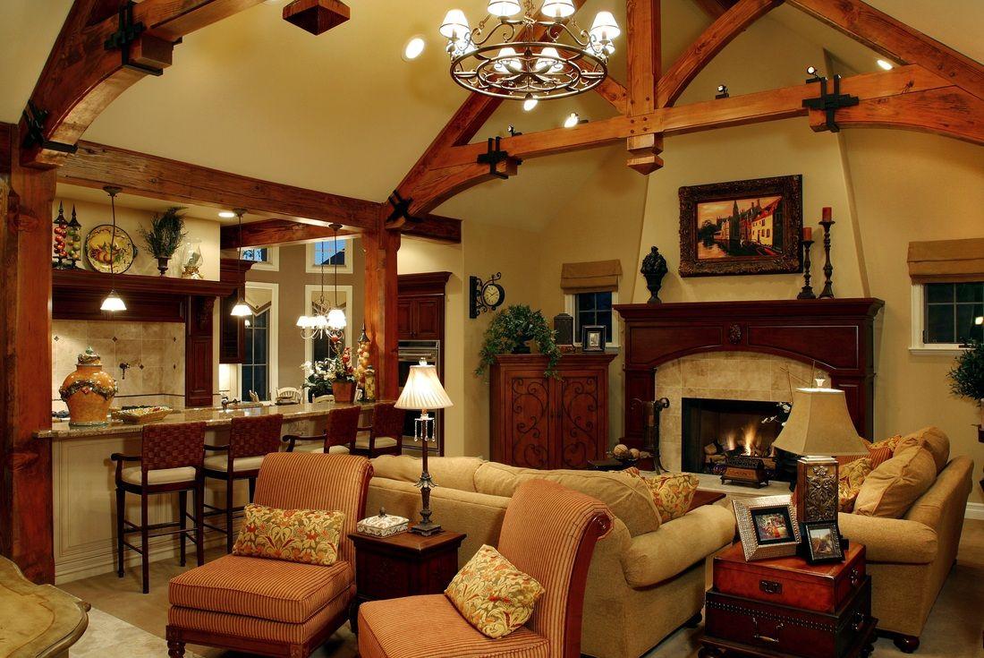 Rustic Living Room Interesting Design Decoration