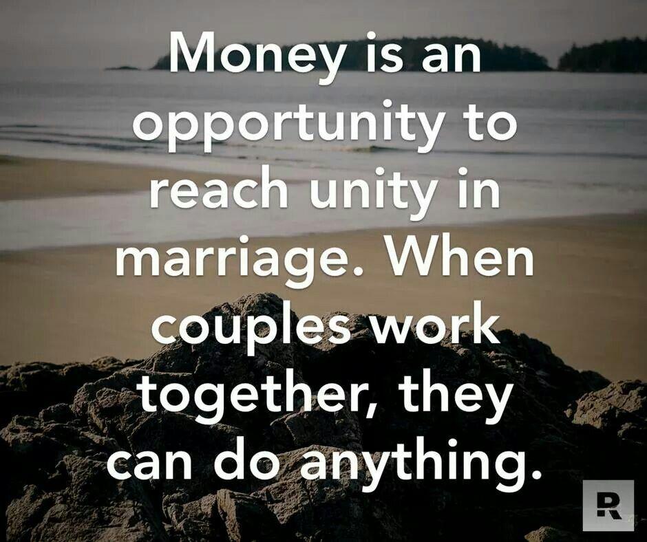 marriage money finances