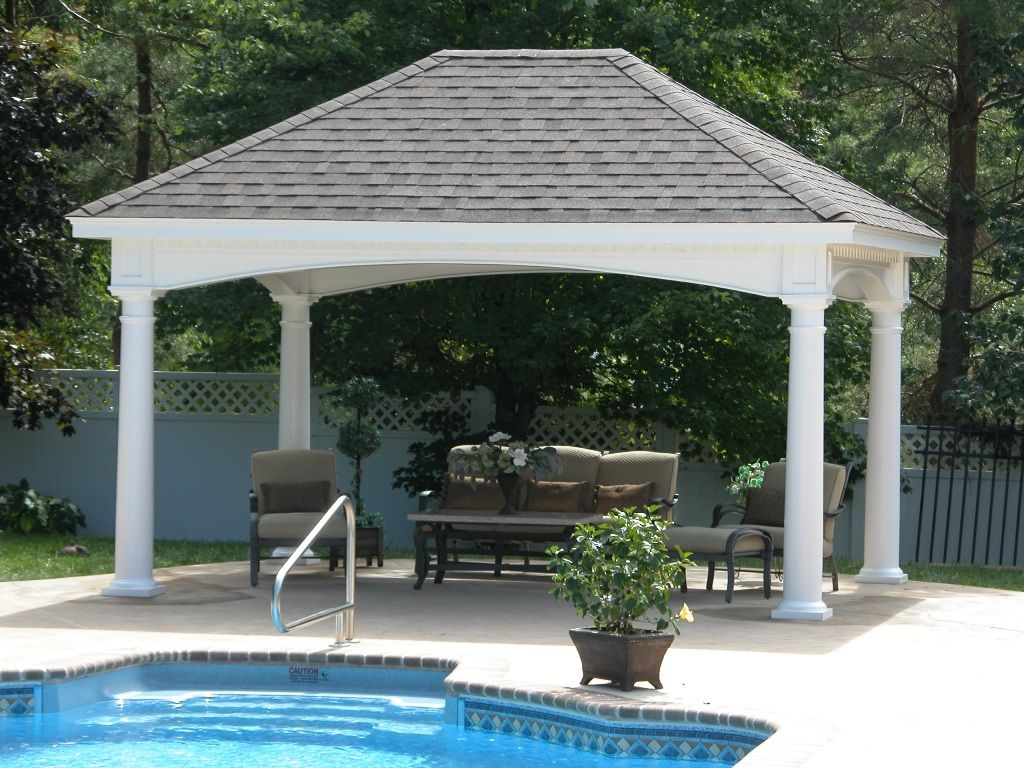 Beautiful pavilion by the pool pool pinterest for Pool pavilion designs