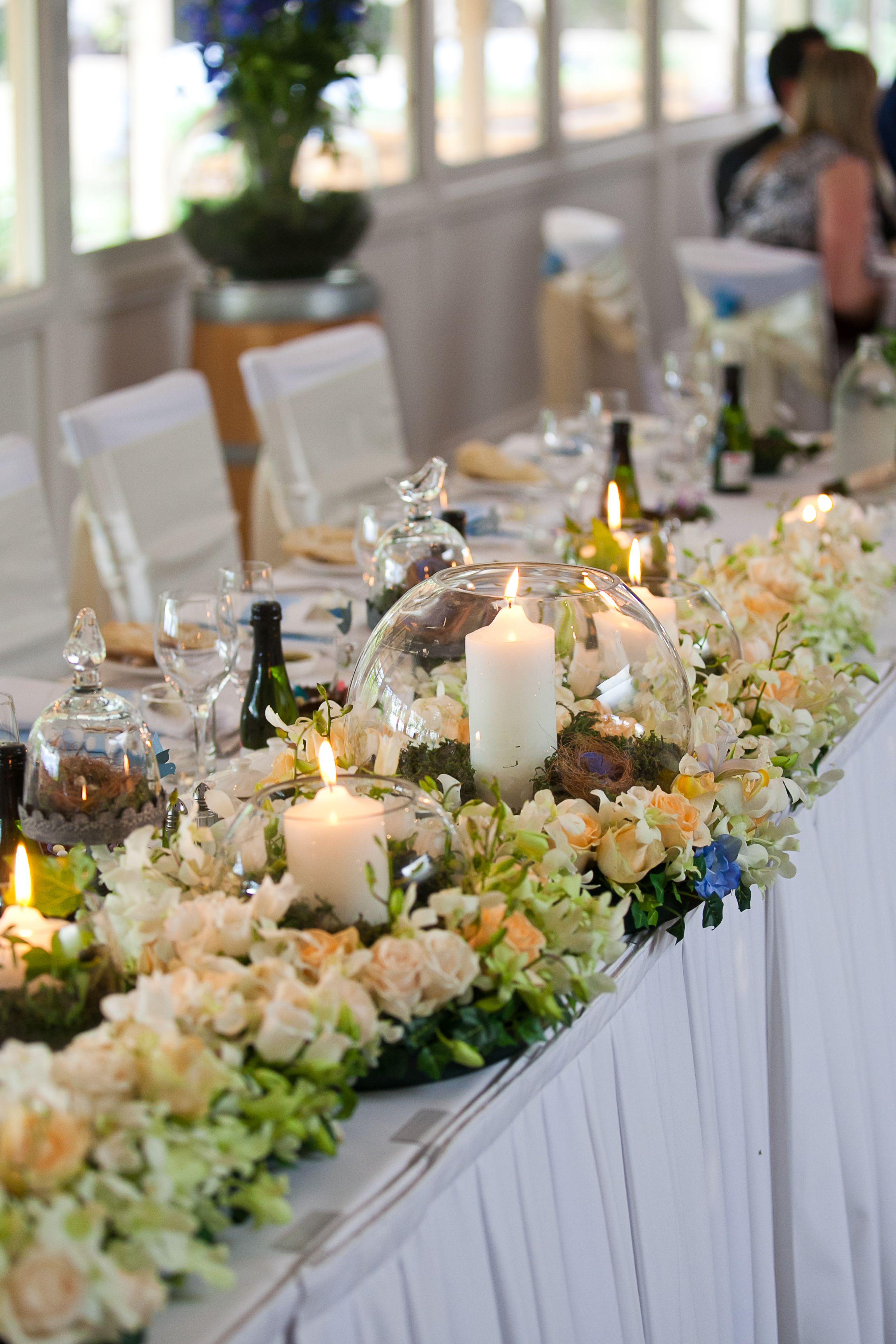 Bridal Table Flowers Romantic Weddings Pinterest