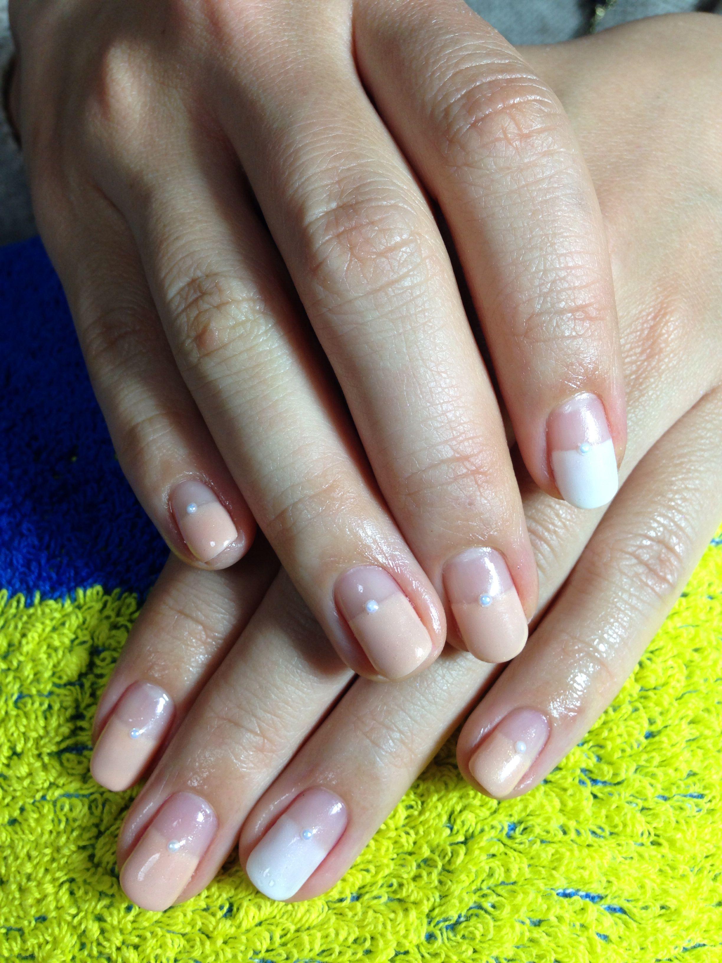 Straight Line Nail Art : Elegant straight line french nails kana pinterest