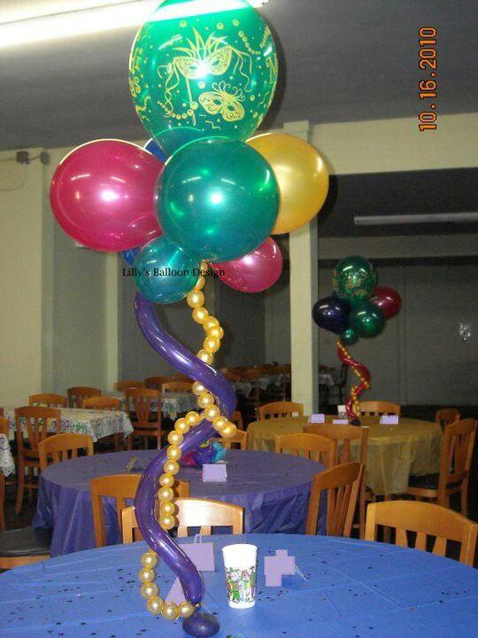 Mardi gras centerpiece event decorating ideas pinterest