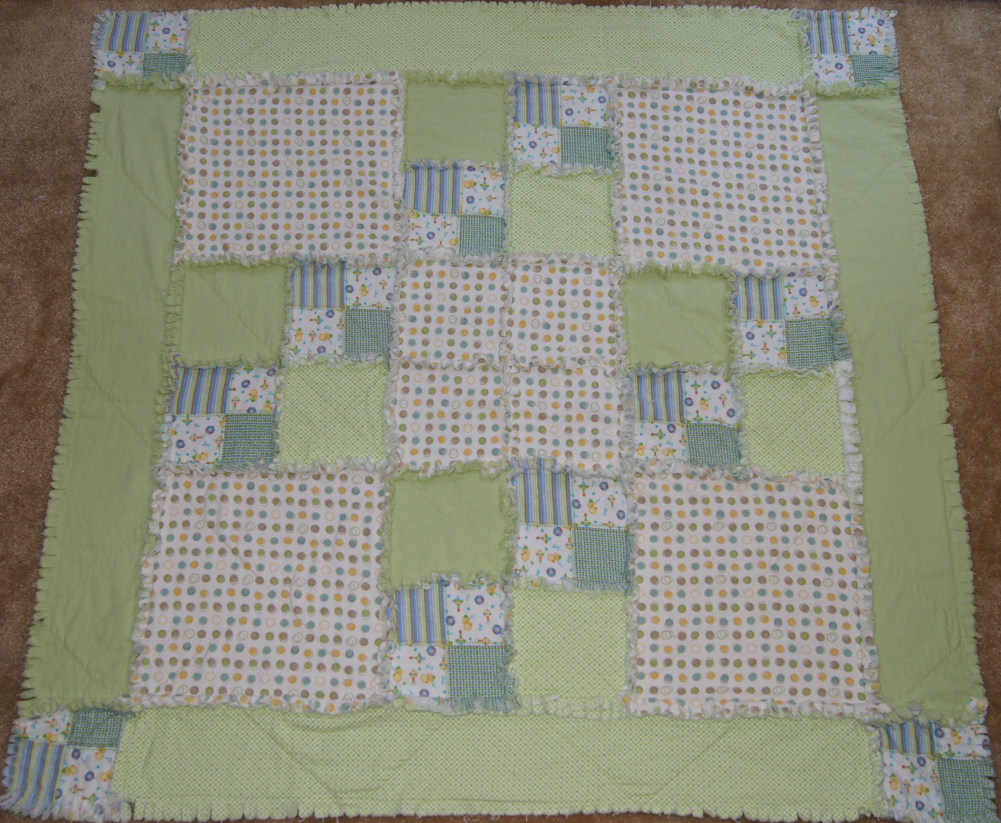 Baby rag quilt pattern Machine Quilting - Rag Quilts Pinterest