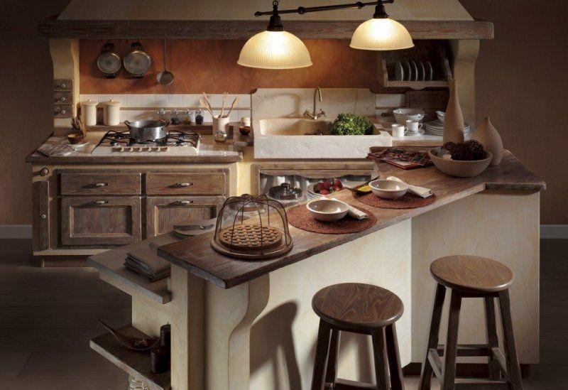 Cucina in muratura con isola perfect tende per cucine in muratura foto con tende cucina moderna for Placcaggio cucina moderna