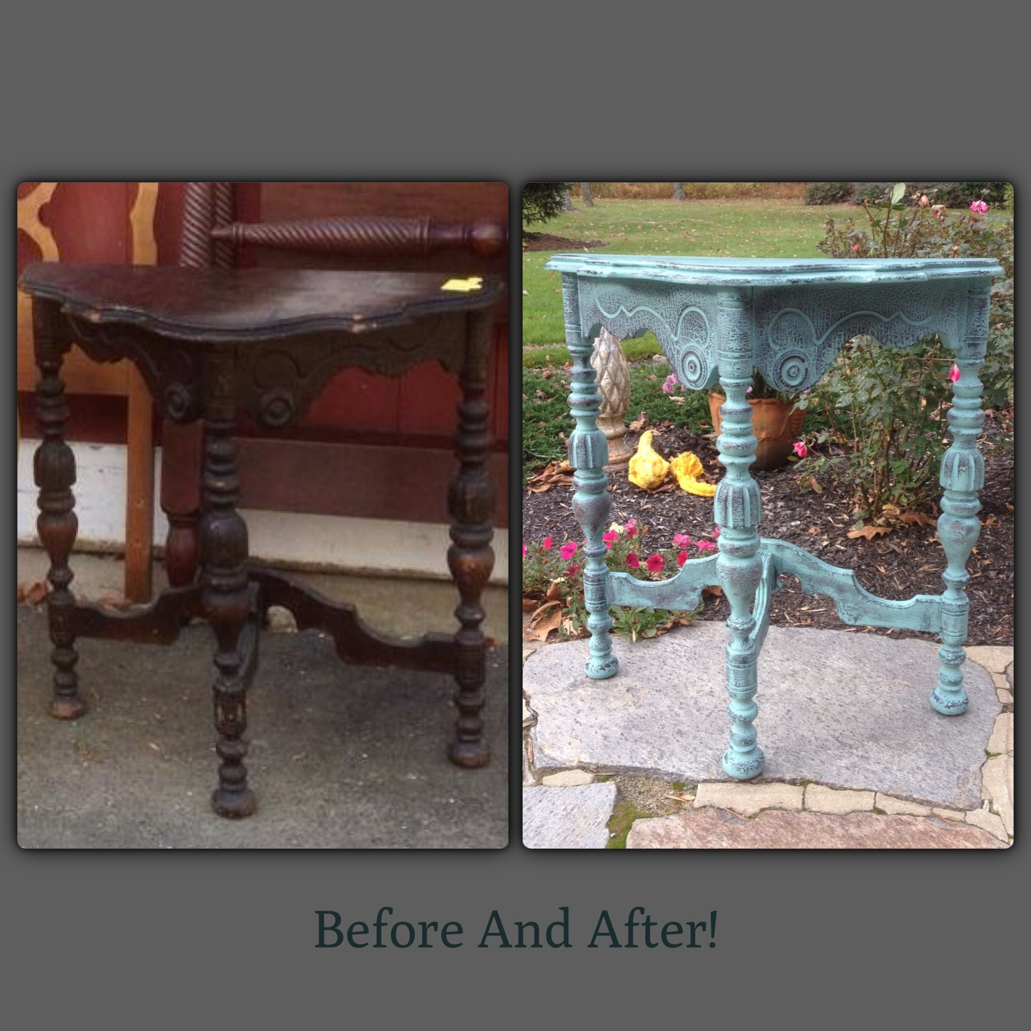 Before And After Teal Furniture Redo Examples Pinterest