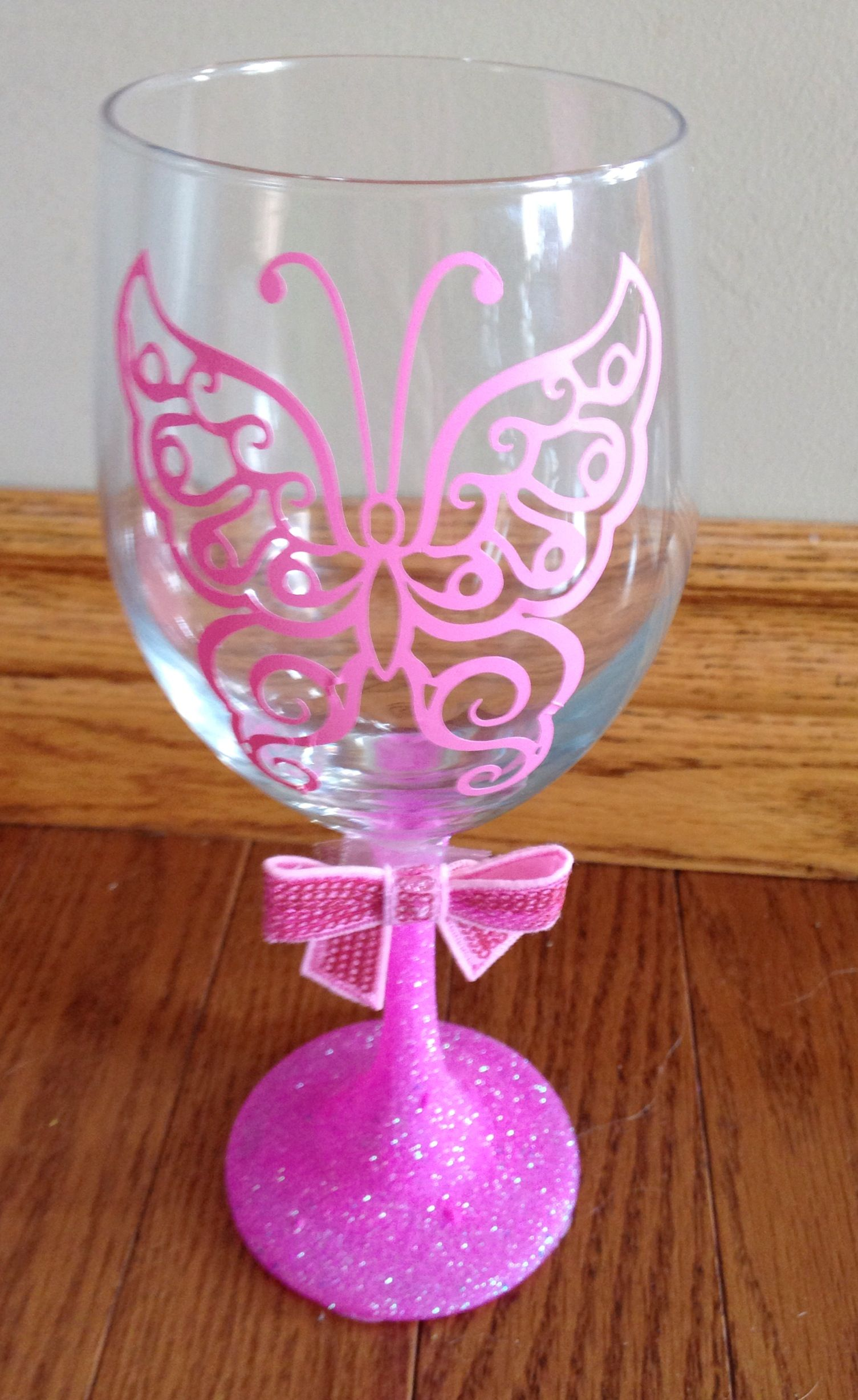 Custom glitter wine glasses wine glasses pinterest How to make wine glasses sparkle