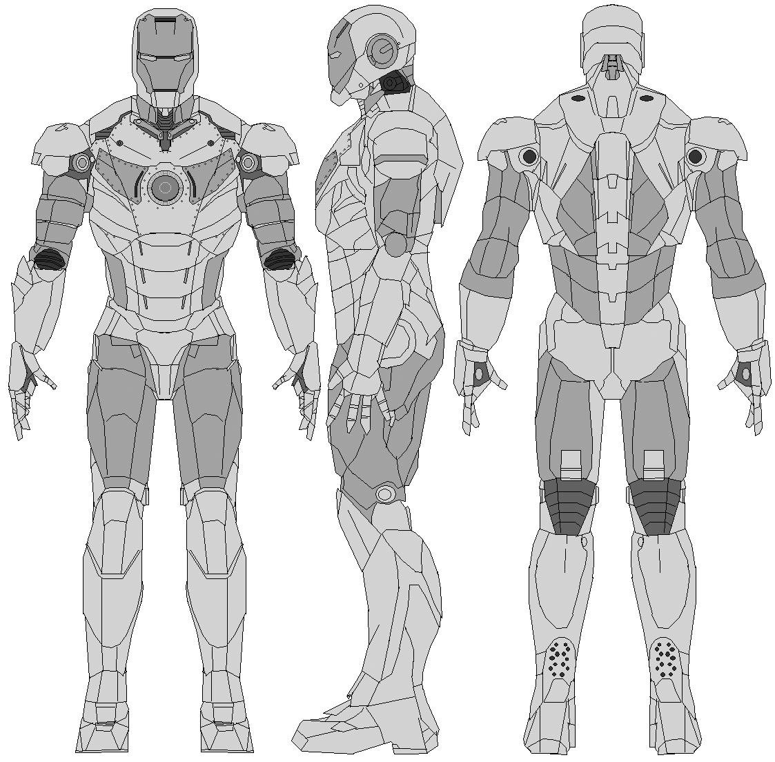 Iron Man | Model Sheet - Blue Print | Pinterest
