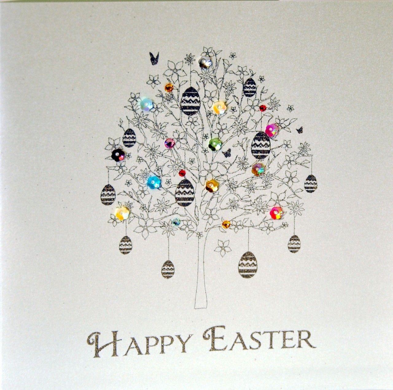 Easter greetings tree | Handmade cards | Pinterest