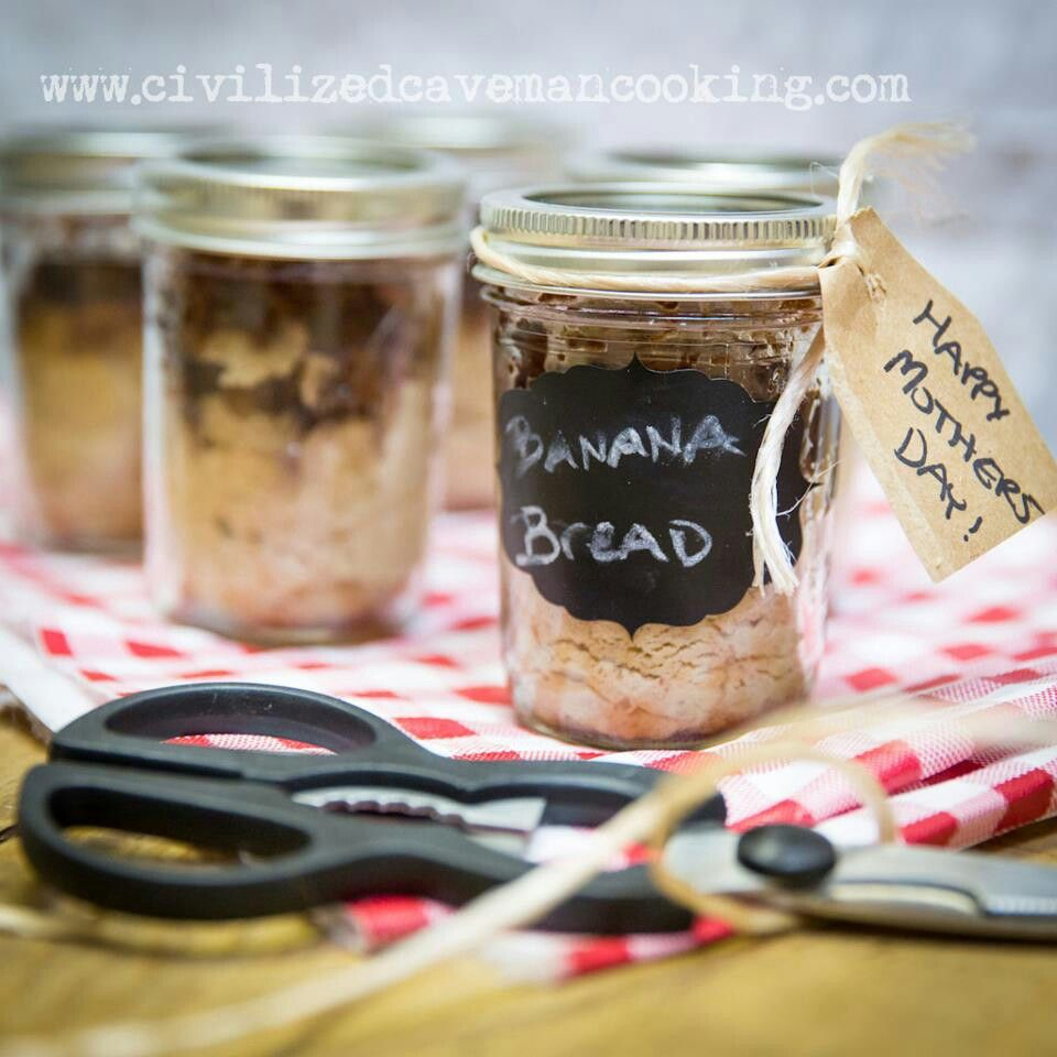 Paleo banana bread in a jar! Good gift | sweets | Pinterest