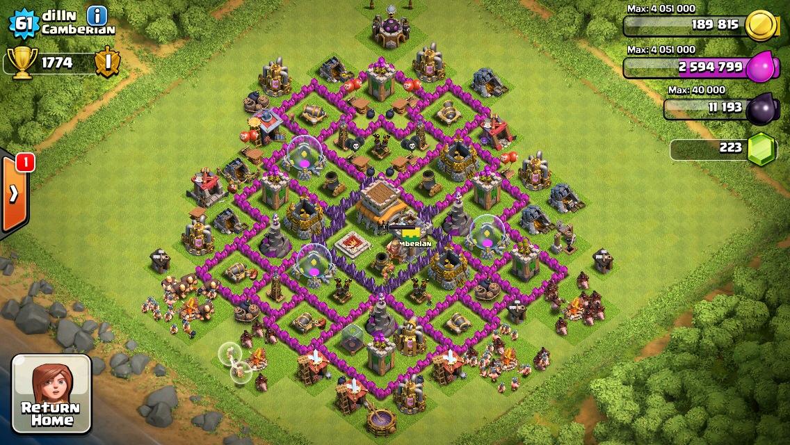 Th 8 trophy base clash of clan base layout pinterest