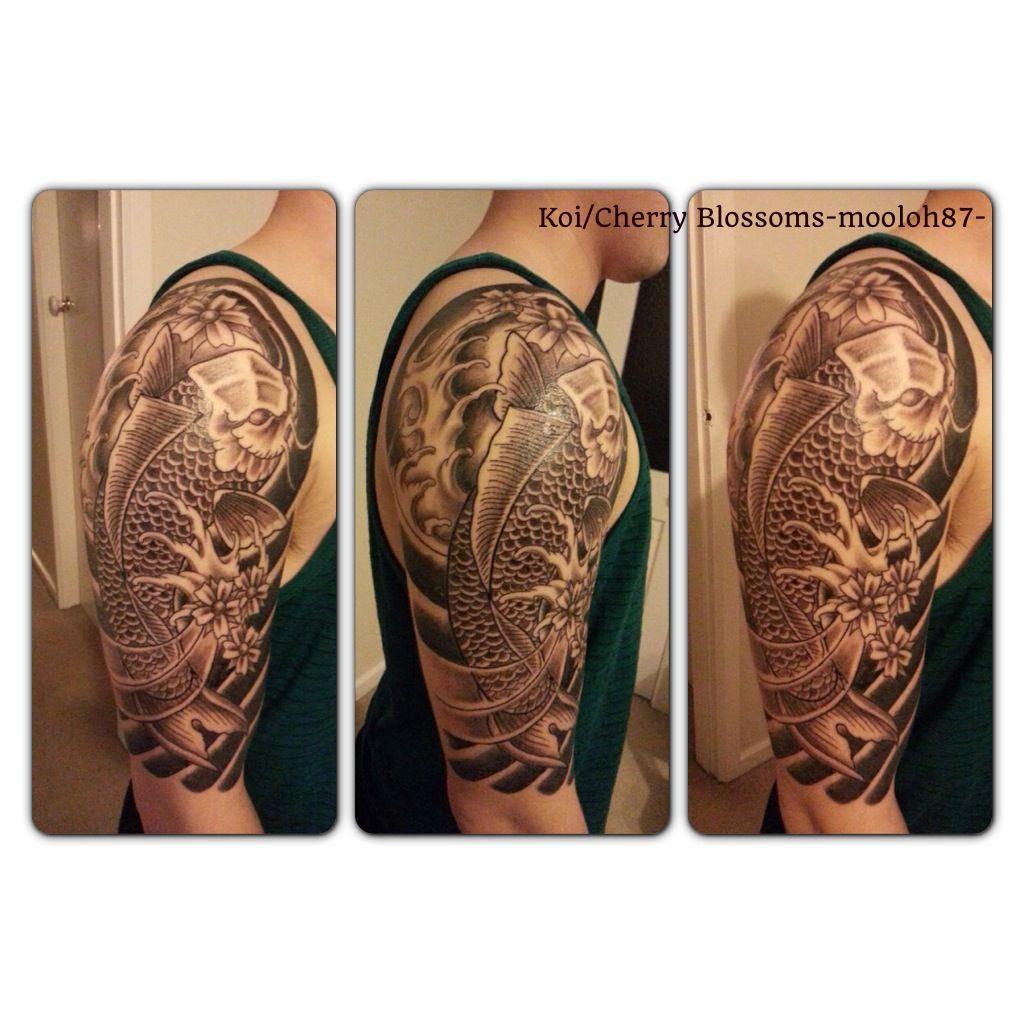 Black white koi tattoo tattoo pinterest for Black koi fish tattoo